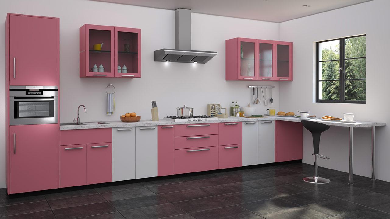 Straight Shaped Modular Kitchen Designs - Modular kitchen u shaped design