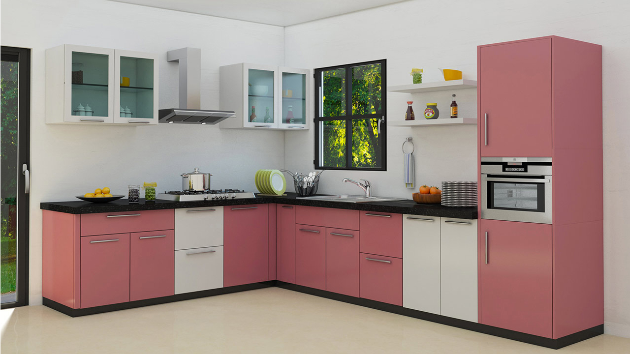 L shaped modular kitchen designs Modular kitchen designs and price in kanpur