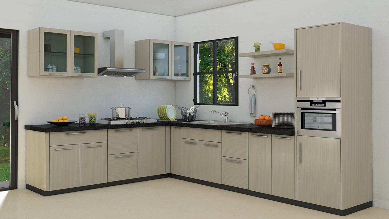 L shaped modular kitchen designs for Kitchen ideas medium kitchens