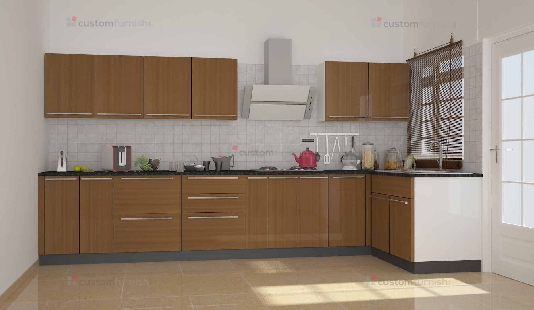 L shaped modular kitchen design for L shaped kitchen designs