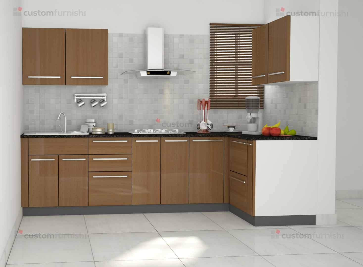 Modular kitchen design l shape crowdbuild for for Kichan dizain