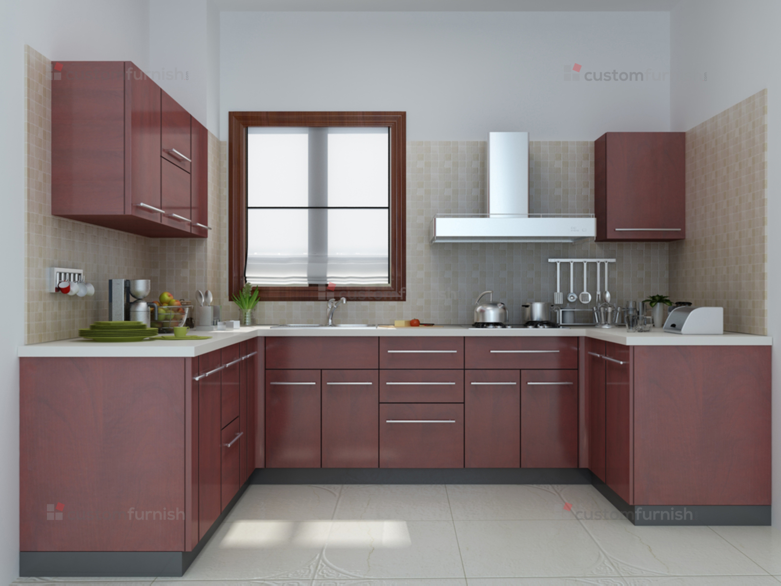 Gentil U Shaped Kitchen