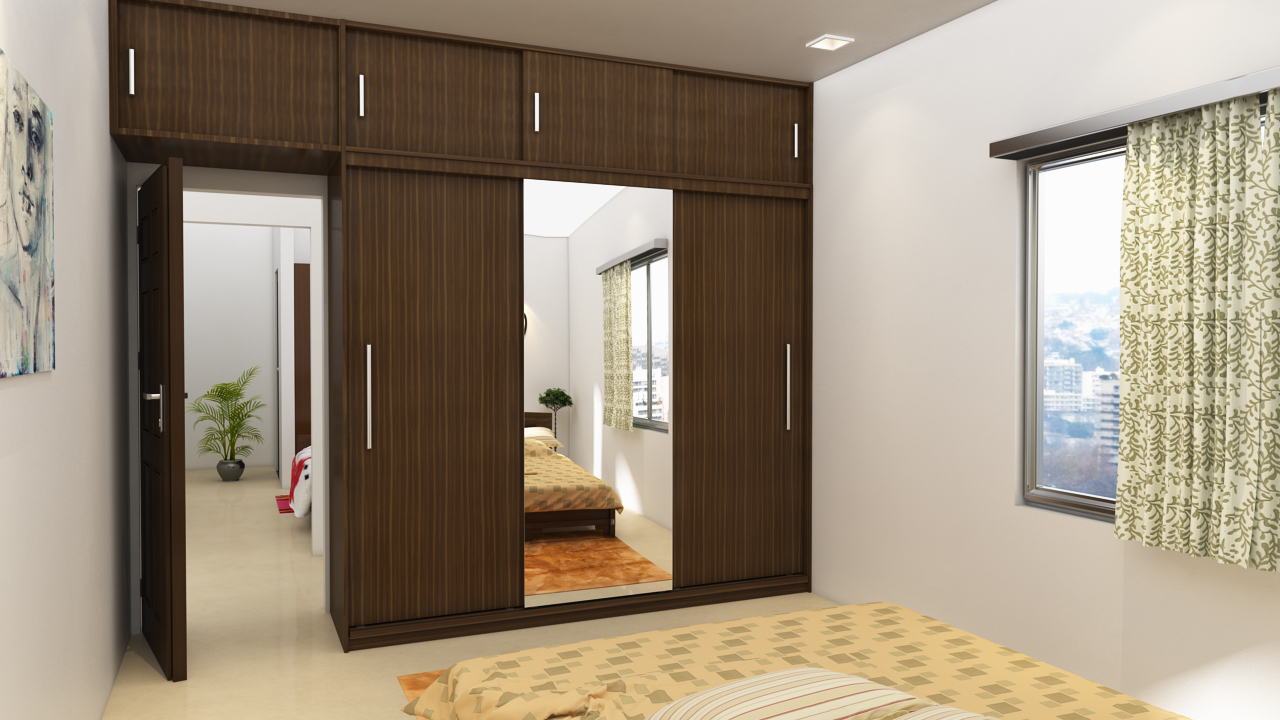 Sliding door wardrobe design ideas for 4 door wardrobe interior designs