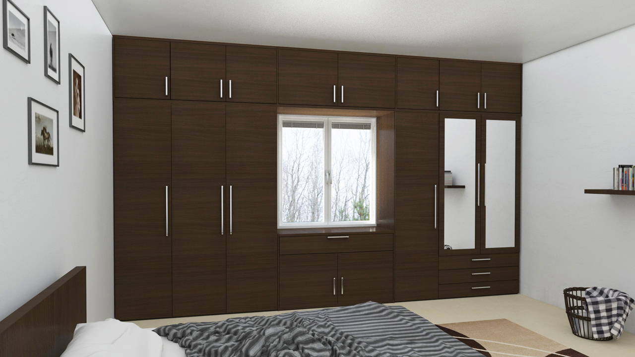 Wardrobe with loft design ideas for Wardrobe interior designs catalogue