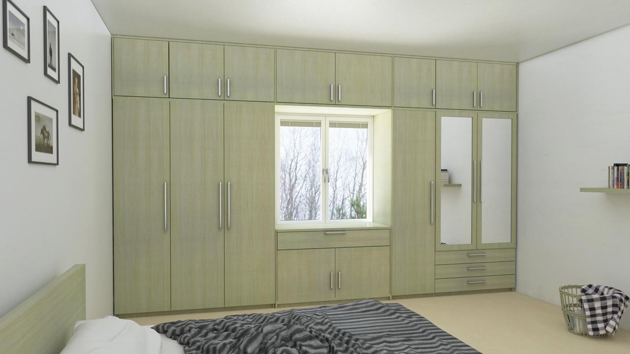 Wardrobe With Loft Design Ideas